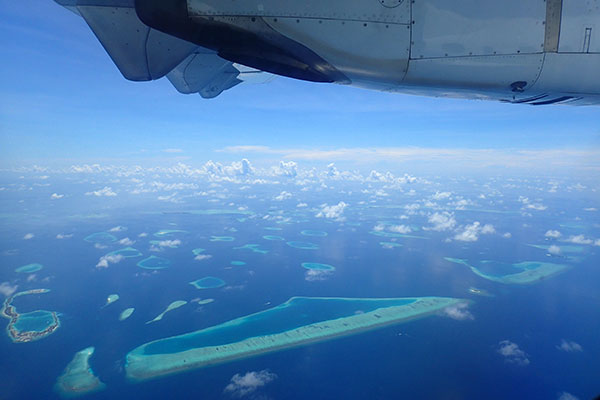 飛行機からの海外旅行