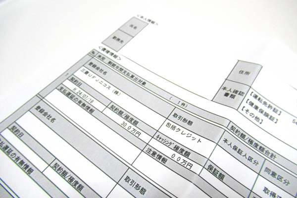 信用情報の開示資料