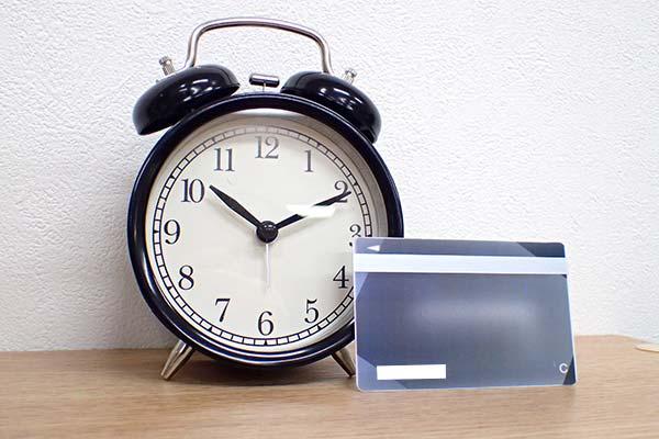 時計とローンカード